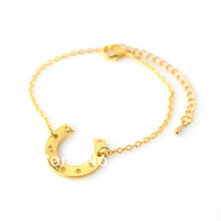 Free Shipping 12pcs/Lot BS0002 link Charm Fine Small Alloy Metal Horse Shoe Charm Costume Fashion Girl Bracelet