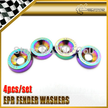 8PCS/SET Neo Chrome Fender Washers Bumper Washer Lisence Plate Bolts Kits VW MAZDA