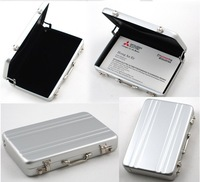 Free shipping Password Aluminium Credit Card Holder Mini Briefcase Business Card Case