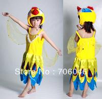 Good quality kids animal design stage play costume, bird costume,Free shipping