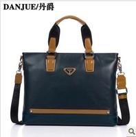 2013 new arrived Man bag genuine leather Briefcases leather Laptop bag Danjue brand briefcase kids M8716-1