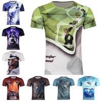Free shipping 2014 New Korean men's letters plaid 3d effect Slim Male T-shirt,8 styles,