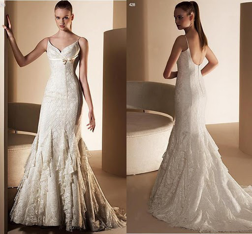2013 Buy Bridal Dress Hot Sell In Stock Free Shipping Mermaid V Neckline Backless Lace with RIbbon Custom Made Wedding Dress(China (Mainland))