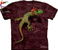 Free shipping The mountain 3d t-shirt gecko gekkonidae animal top tee fashion three-dimensional personality short Wholesale