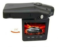 H198 Car DVR with 2.5 Inch 270 Degree Rotated Screen, 6 IR LED, HD 720P Night Vision Car Camera Camcorder Dash Cam