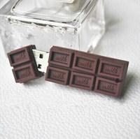 Free Shipping sweet chocolate genuine capacity food usb flash disk Memory drive pendrive stick 1GB 2GB 4GB 8GB 16GB 32GB