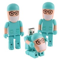 Sale! cute doctor model USB 2.0 Memory Stick Flash Drive enough 16G 32G 64G 128G UP126 Can exchange for other color model