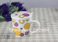 Free Shipping For MIN ORDER $39 Cup bone china cover belt spoon ceramic cup style cup milk cup coffee