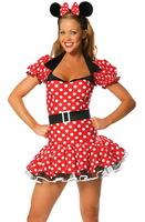 Sexy Adult Costume Party Mickey Cosplay Costume 3PCS LC8114 halloween fantasia costumes for women