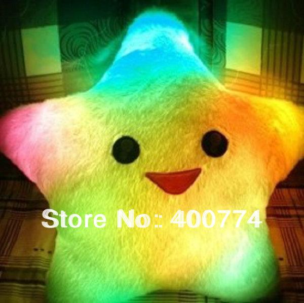 star LED pillow ,RGB Cushion,led flashing pillow,led color change Cushion led plush cushion gifts toy(China (Mainland))