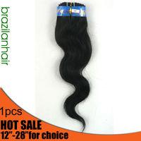 "Grade AAA 100g 100% Virgin Human Brazilian hair extension Natural Tangle free Body wave 12-28"""