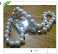 HUGE AA+ 13-14mm WHITE FRESHWATER PEARL NECKLACE 18""