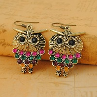 Free shipping Owl Vintage Bohemia Drop Earrings Fashion Jewelry Wholesale Qulity Guaranteed V-FE101010