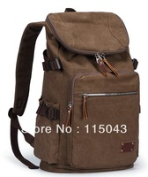 Vintage 2013 New Arrivals Men's Travelling Backpacks Casual Student School Bag Male14 inch Laptop Rucksacks + Free Shipping