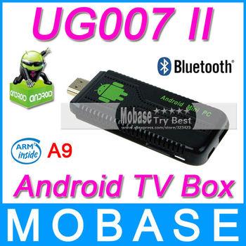 UG007 II 2 Micro USB Ports Mini PC Google Android 4.1.1 TV Box Dual Core Cortex-A9 1G/8G WiFi HDMI Bluetooth Black Stick Dongle