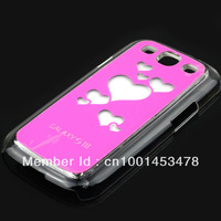 Trendy Hearts Flasher LED Color Changed Protector Case for Mobile Samsung Galaxy S3 i9300