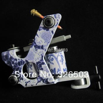 One General Beginner 8 Wrap Coils Tattoo Machine Gun For Kit Power Supply STG-H04