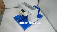 Fedex shipping free, Garment A4  Flatbed printer , ( Support White ink printing with RIP software )