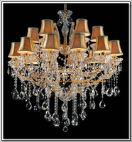 2014 Sale Chandeliers Free Shipping Contemporary Style Crystal Large Chandelier In Clear With Lampshade Md7001 D910mm H930mm