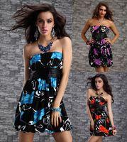 FREE SHIPPING 2014 New Sexy Women Plus Size Cute Print Summer Clubbing Dresses Size M/XXL XY2221-3