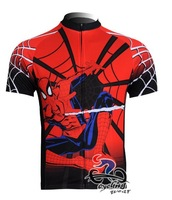 Free Shipping Team cycling Jersey Spider Man New Style in 2011 Red+Black 163