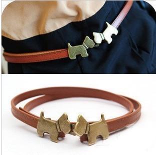 Lovely Dog belt for women wholesale 2013 new Fashion ladies' Slim Belt free, Figure 8 shape Thin Belts Mini order15$+free gift