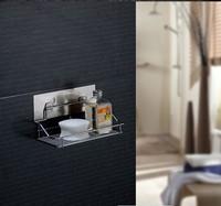 Free shipping adhesive bathroom shelf magic bath holder shower caddy kitchen storage holder kitchen supplies bathroom fitting