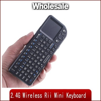New 2.4G Wireless Rii Mini PC Keyboard with Touchpad USB Receiver free shipping