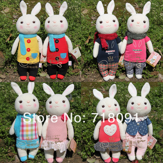 Free shipping,Metoo Rabbit Or Bunny Toy Doll For Valentine's Day Gifts,Children And Girls' Gifts, 35cm,1pc(China (Mainland))