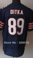 Free Shipping #89 Mike Ditka Men's Elite Football Jersey,Embroidery and Sewing logos,Size M--3XL,Can Mix Order