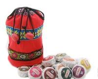 On Sale!!! 50pcs 10 Kinds Flavor Pu er, Pu'erh tea, Mini Yunnan Puer tea ,Chinese tea, With Gift Bag, Free Shipping