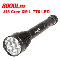 TrustFire J18 CREE XML T6 8000 Lumens LED Flashlight Super Bright 18650 26650 Torch Light Waterproof For Outdoor Sports Lighting