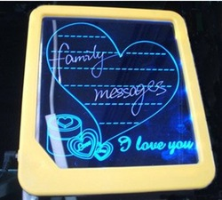 LED message board/ led display handwritten fluorescence plate with a highlighter Kids Painting Writing Panel(China (Mainland))
