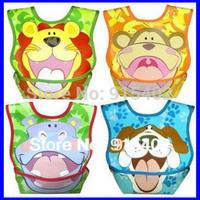 Hot Sale Waterproof Baby Bibs PVC Baby Bibs Cartoon Animal PVC Bibs Infant Saliva Towels 50 country free shipping 5pcs WZ18