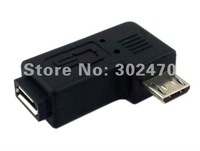 [FREE SHIPPING/EPACKET!] Micro USB 2.0 5Pin Male to Female M - F extension adapter 90 degree right angled