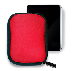 For WD My Passport Compact Portable Hard Drive/disk carrying sata hdd Carrying Case pounch bag- Red(China (Mainland))