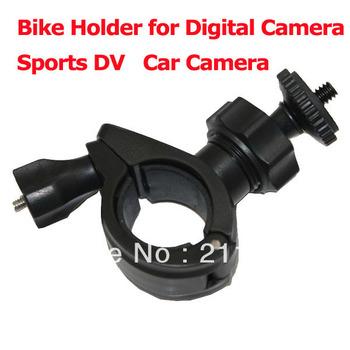 "2013 Bestselling Bike Holder for Digital Camera AEE Sports DV Motorcycle Bracket 1/4"" Screw head Bike Mount for Car Camera H609"