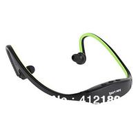Wireless Sport MP3 Music Player Headphone Support TF + FM Radio Free shipping