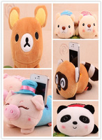 Min. Order 15$. Plush Stuffed Toy; Cartoon MIX Cellphone Holder Case Mobile Cell Phone Holder Case Car Stand Holders Pouch Bag