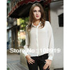 solid chiffon blouse lace shirts free shipping
