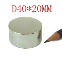 2014 hot sale special offer  2pc n38 ndfeb d40x20mm strong magnet lodestone super permanent neodymium magnets free shipping