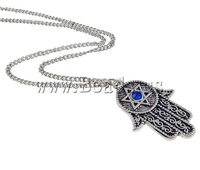 Free shipping!!!Zinc Alloy Jewelry Necklace,Newest Design, with Iron, zinc alloy lobster clasp, Hamsa