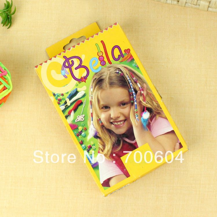 Min Order $15, Creative & Fun Child Baby Girl Kids Toddler Gift/Present DIY Toy Hair bands, Decorate Your Hair w/ Hair Wraps,(China (Mainland))