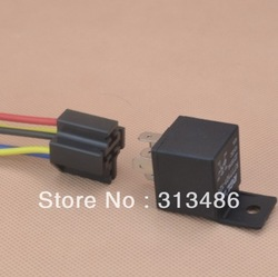 auto relay+socket,NO40A,NC 30A car relay DC12V or DC24V(China (Mainland))