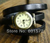 3rounds cow geniune leather band,freeshipping 1pc/lot promotion punk style retro watch,different color,the Roman numerals head
