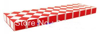 Free shipping 120 Blocks Magic Snake Ruler Cube Puzzle Children Education Imagination Game Toy Gift