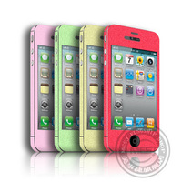 The colorful stickers fashion stickers cover for  iphone 4  4s mobile phone Affixed to front and rear, to prevent scratches