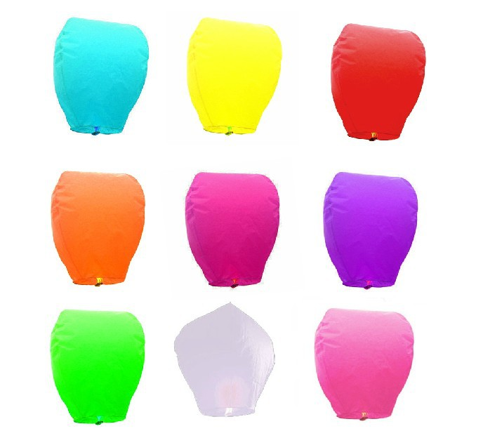 Free shipping!10pcs Sky lantern/wishing lantern/hot air balloon/fly to the sky/water form with fuel(China (Mainland))