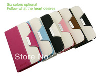 High Quality 2c leather Phone Case  a lot 6 colors available for Sumsung I9220 free shipping by china post