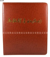 Free Shipping coin album collection book stock book with replacement sheets wholesale/retail